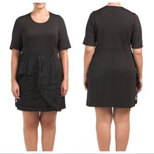 NWT RACHEL Roy Curvy Black Cocktail Dress 22W